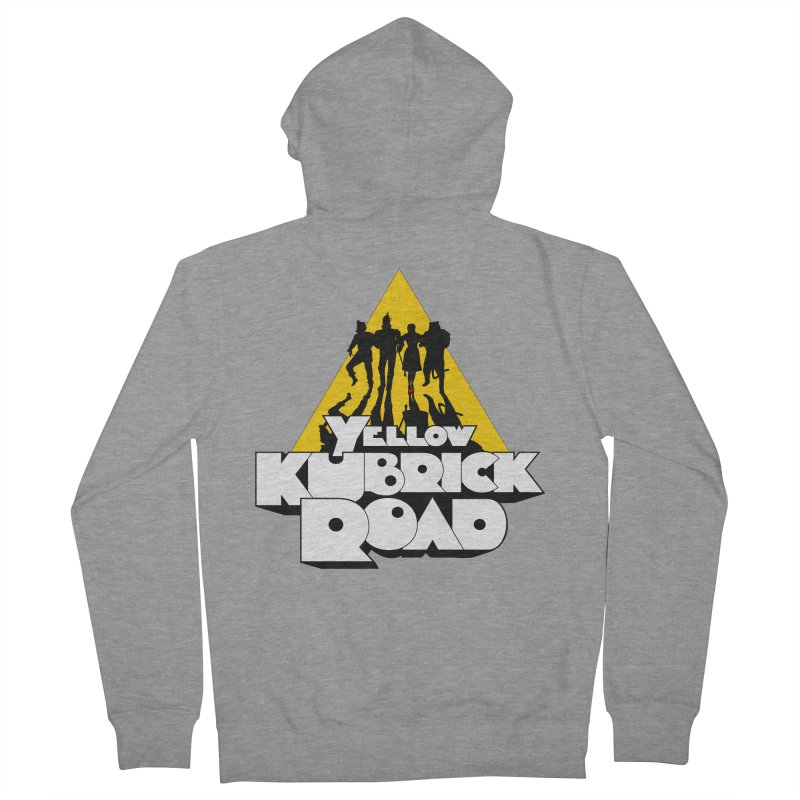 Follow the Yellow Kubrick Road Women's French Terry Zip-Up Hoody by Tom Burns