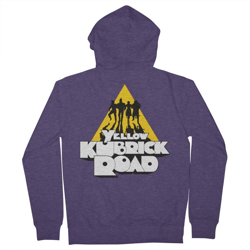 Follow the Yellow Kubrick Road Men's Zip-Up Hoody by Tom Burns