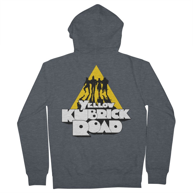 Follow the Yellow Kubrick Road Men's French Terry Zip-Up Hoody by Tom Burns