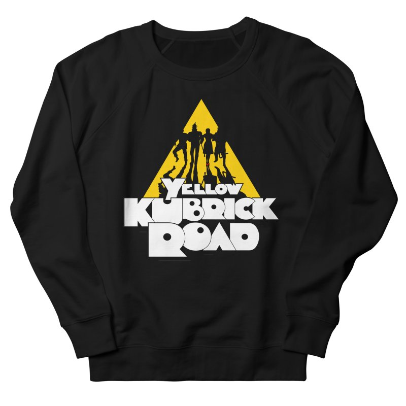 Follow the Yellow Kubrick Road Men's French Terry Sweatshirt by Tom Burns