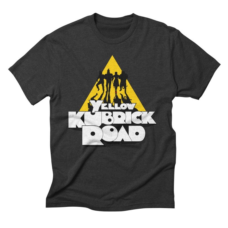 Follow the Yellow Kubrick Road Men's Triblend T-shirt by Tom Burns