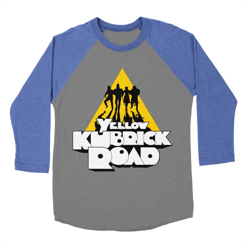 Follow the Yellow Kubrick Road Men's Baseball Triblend Longsleeve T-Shirt by Tom Burns