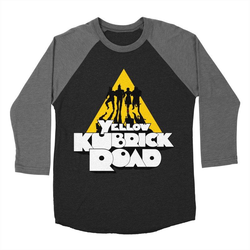 Follow the Yellow Kubrick Road Men's Baseball Triblend Longsleeve T-Shirt by Tom Burns