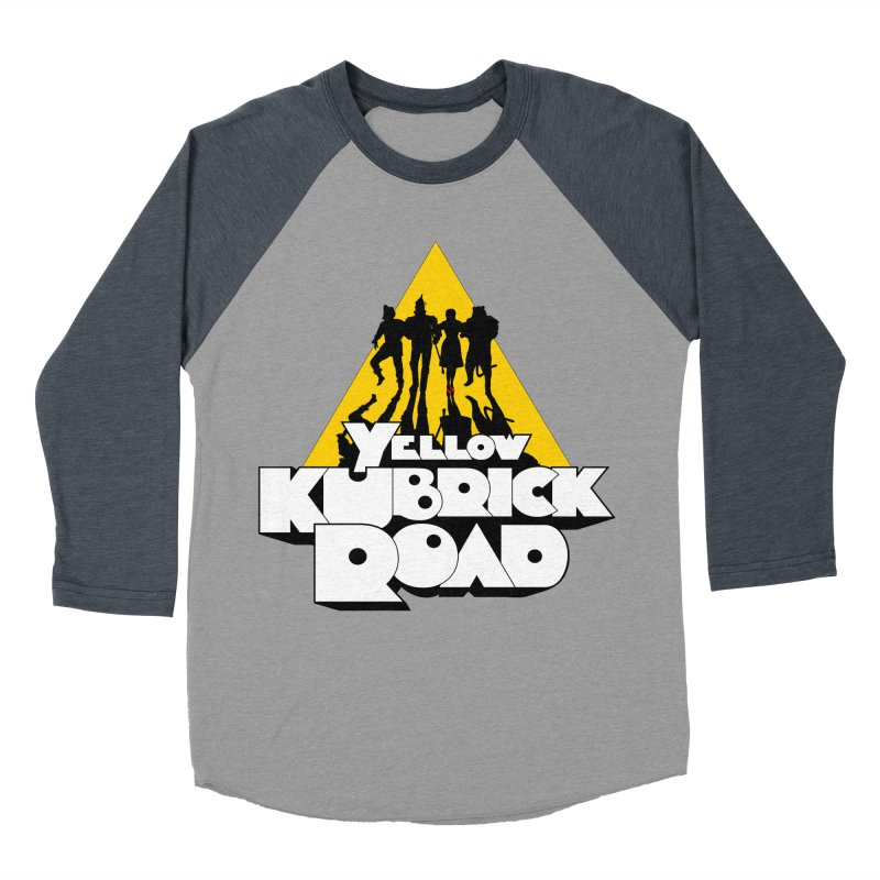 Follow the Yellow Kubrick Road Men's Baseball Triblend T-Shirt by Tom Burns