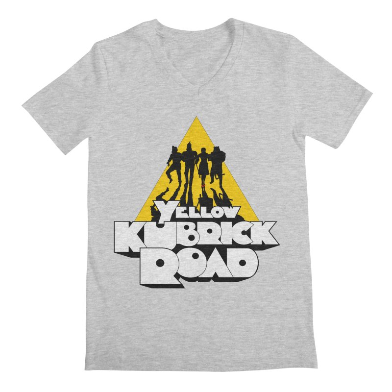Follow the Yellow Kubrick Road Men's V-Neck by Tom Burns