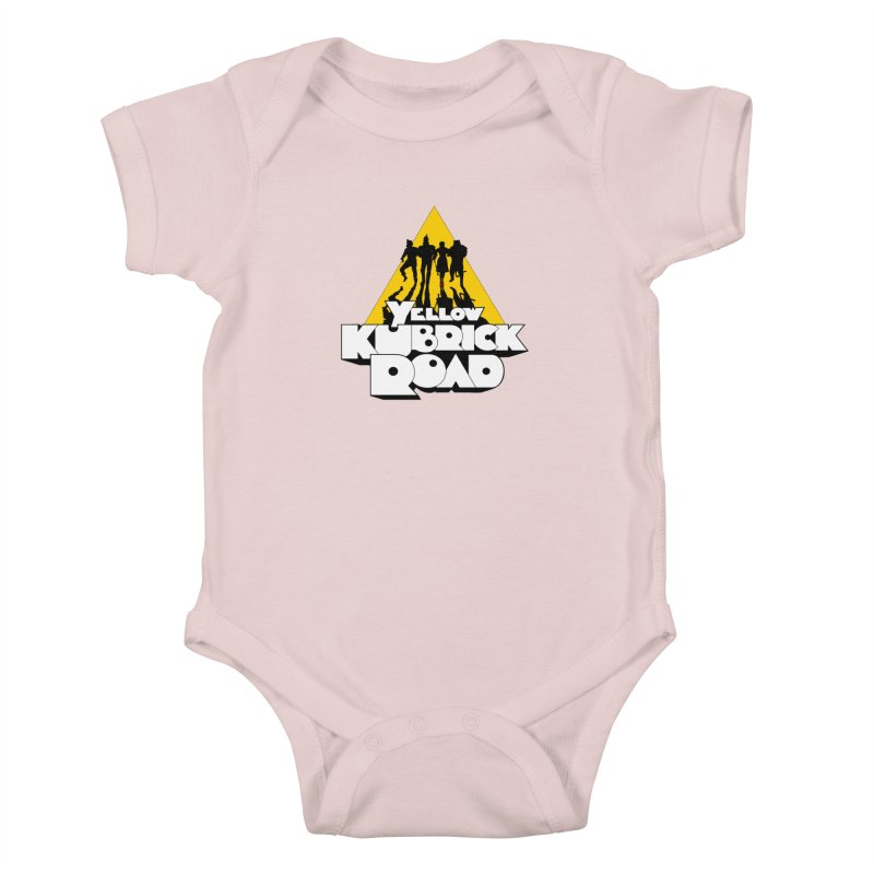 Follow the Yellow Kubrick Road Kids Baby Bodysuit by Tom Burns