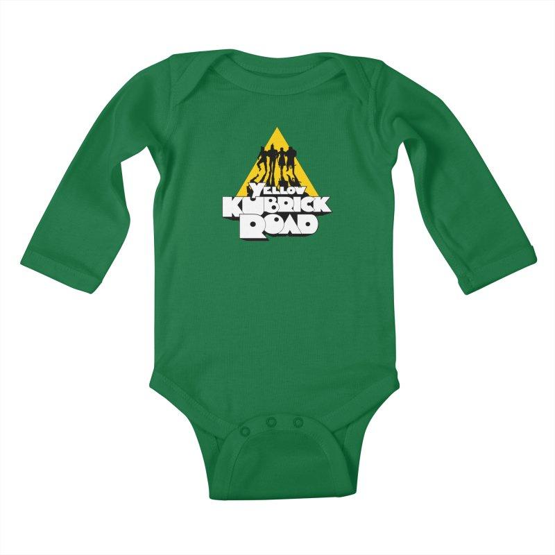 Follow the Yellow Kubrick Road Kids Baby Longsleeve Bodysuit by Tom Burns