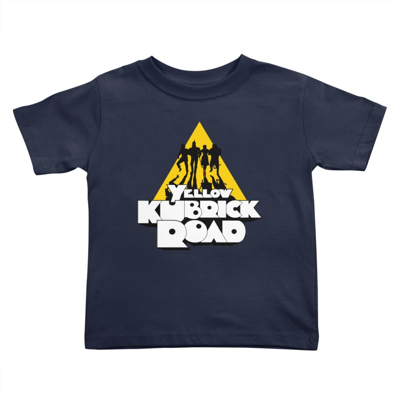 Follow the Yellow Kubrick Road Kids Toddler T-Shirt by Tom Burns