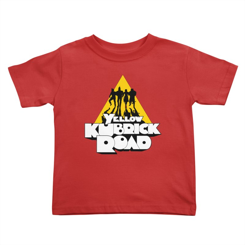 Follow the Yellow Kubrick Road Kids Toddler T-Shirt by Tom Burns
