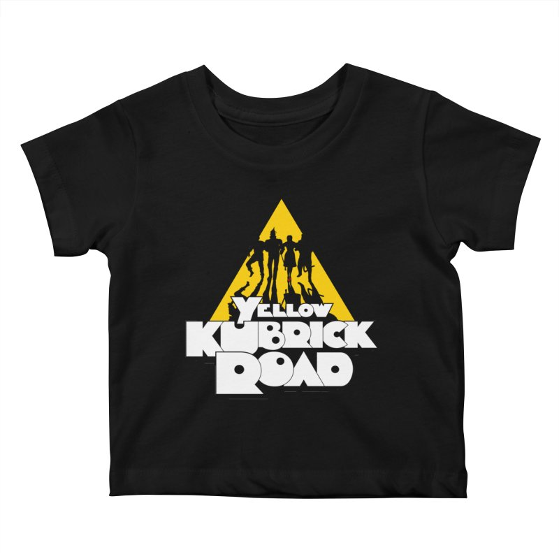 Follow the Yellow Kubrick Road Kids Baby T-Shirt by Tom Burns