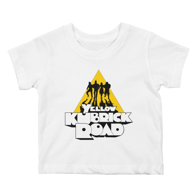 Follow the Yellow Kubrick Road Kids Baby T-Shirt by Tom Burns