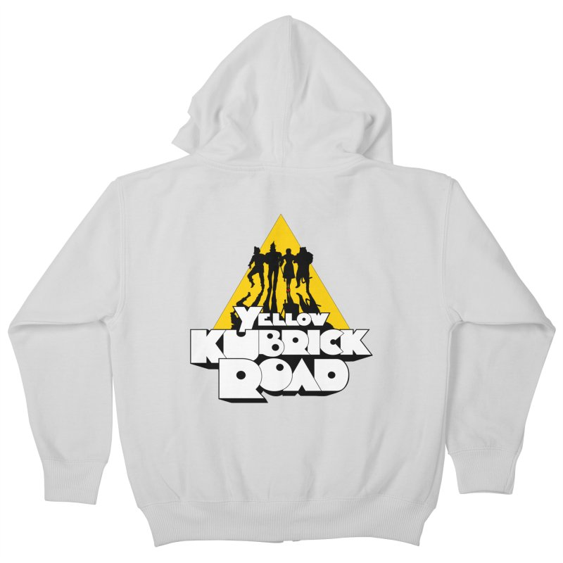Follow the Yellow Kubrick Road Kids Zip-Up Hoody by Tom Burns