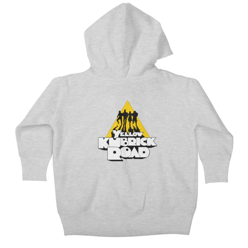 Follow the Yellow Kubrick Road Kids Baby Zip-Up Hoody by Tom Burns