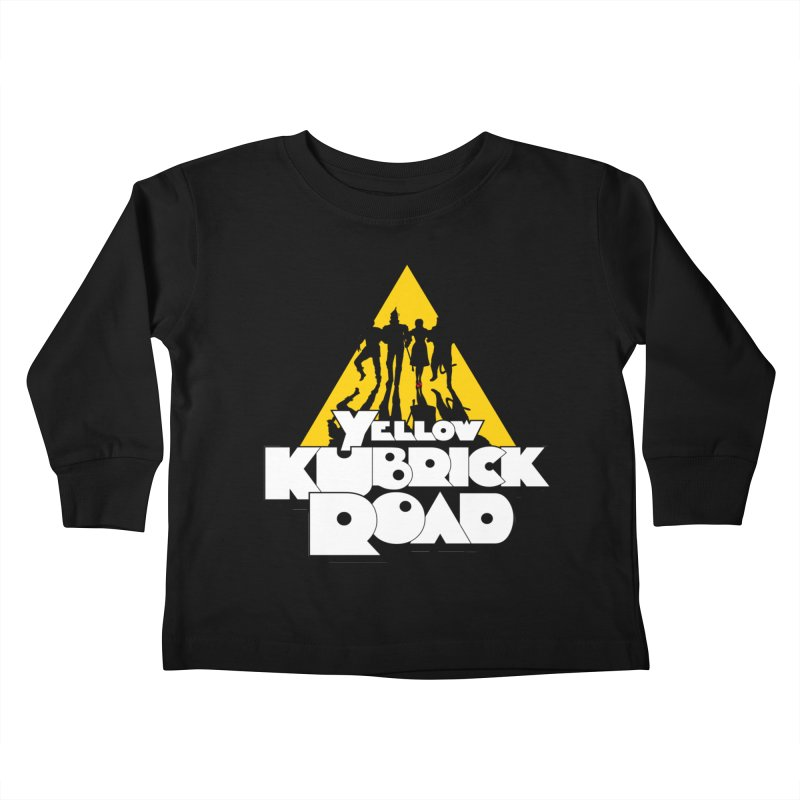 Follow the Yellow Kubrick Road Kids Toddler Longsleeve T-Shirt by Tom Burns