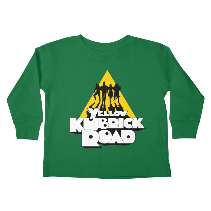 Follow the Yellow Kubrick Road Kids Toddler Longsleeve T-Shirt by Tom Burns