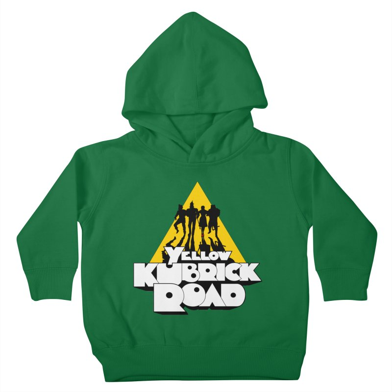 Follow the Yellow Kubrick Road Kids Toddler Pullover Hoody by Tom Burns