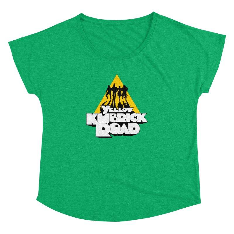Follow the Yellow Kubrick Road Women's Dolman by Tom Burns