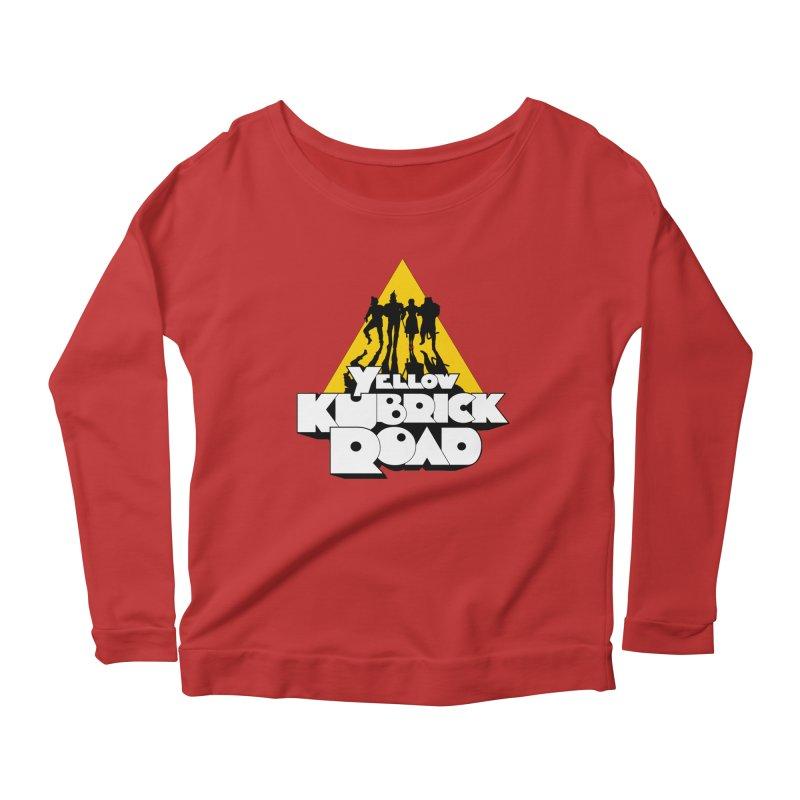 Follow the Yellow Kubrick Road Women's Longsleeve Scoopneck  by Tom Burns