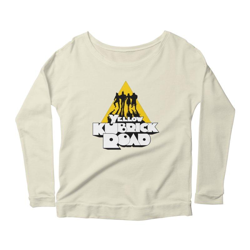 Follow the Yellow Kubrick Road Women's Scoop Neck Longsleeve T-Shirt by Tom Burns
