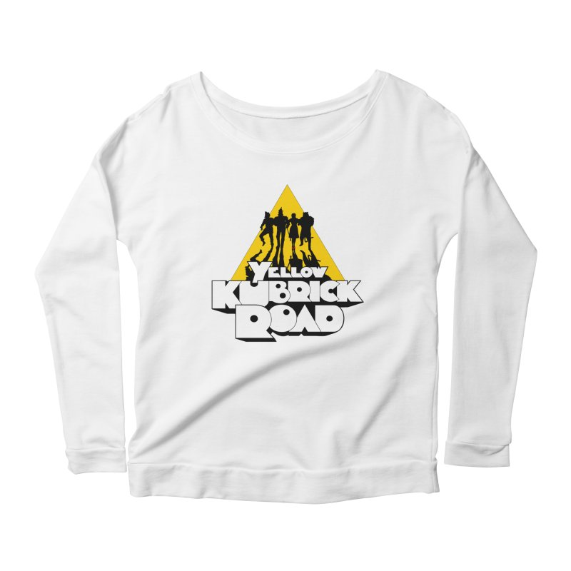Follow the Yellow Kubrick Road Women's Scoop Neck Longsleeve T-Shirt by Tom Burns