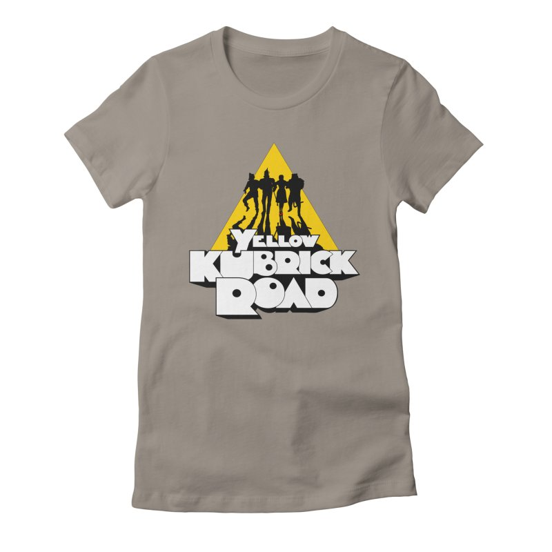Follow the Yellow Kubrick Road Women's Fitted T-Shirt by Tom Burns
