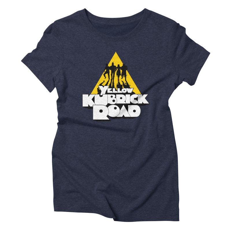 Follow the Yellow Kubrick Road Women's Triblend T-Shirt by Tom Burns