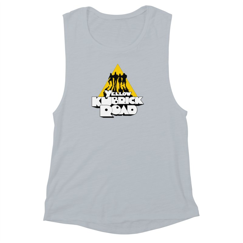 Follow the Yellow Kubrick Road Women's Muscle Tank by Tom Burns
