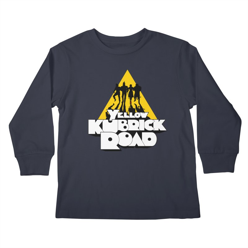Follow the Yellow Kubrick Road Kids Longsleeve T-Shirt by Tom Burns