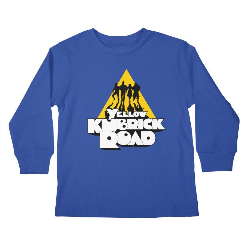 Follow the Yellow Kubrick Road Kids Longsleeve T-Shirt by Tom Burns