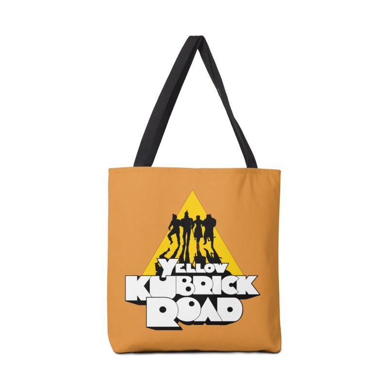 Follow the Yellow Kubrick Road Accessories Bag by Tom Burns