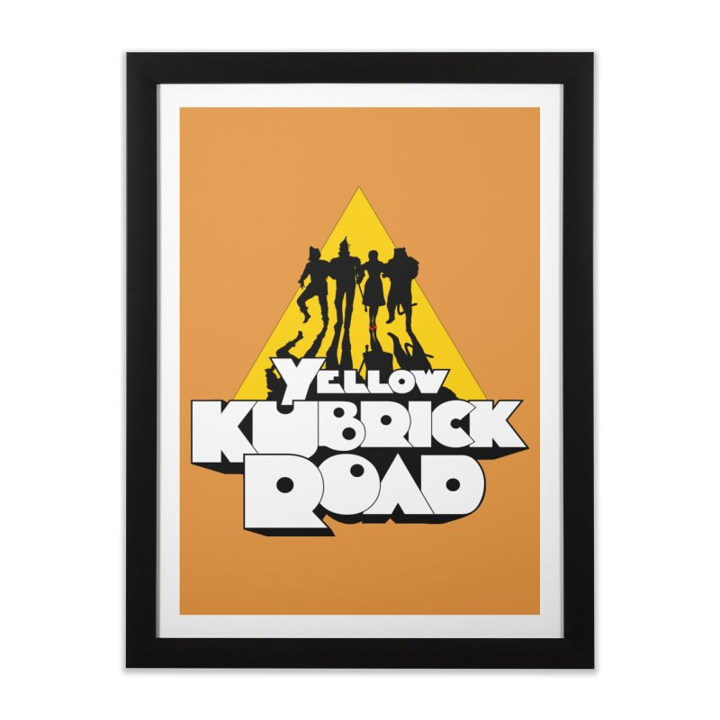 Follow the Yellow Kubrick Road Home Framed Fine Art Print by Tom Burns