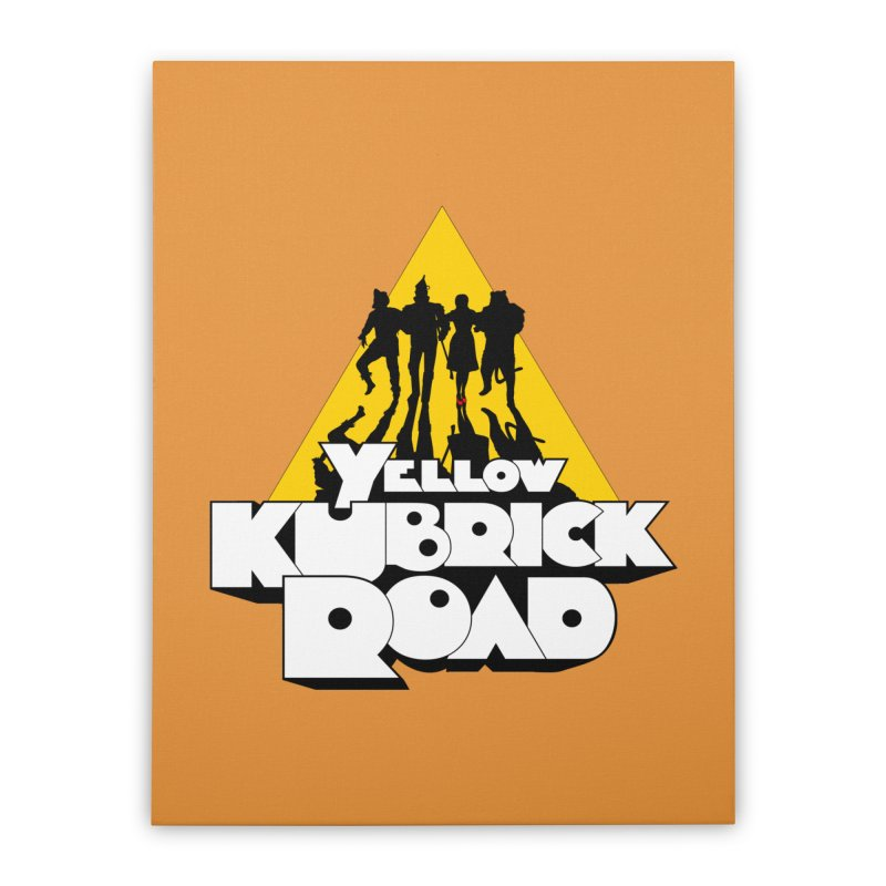 Follow the Yellow Kubrick Road Home Stretched Canvas by Tom Burns