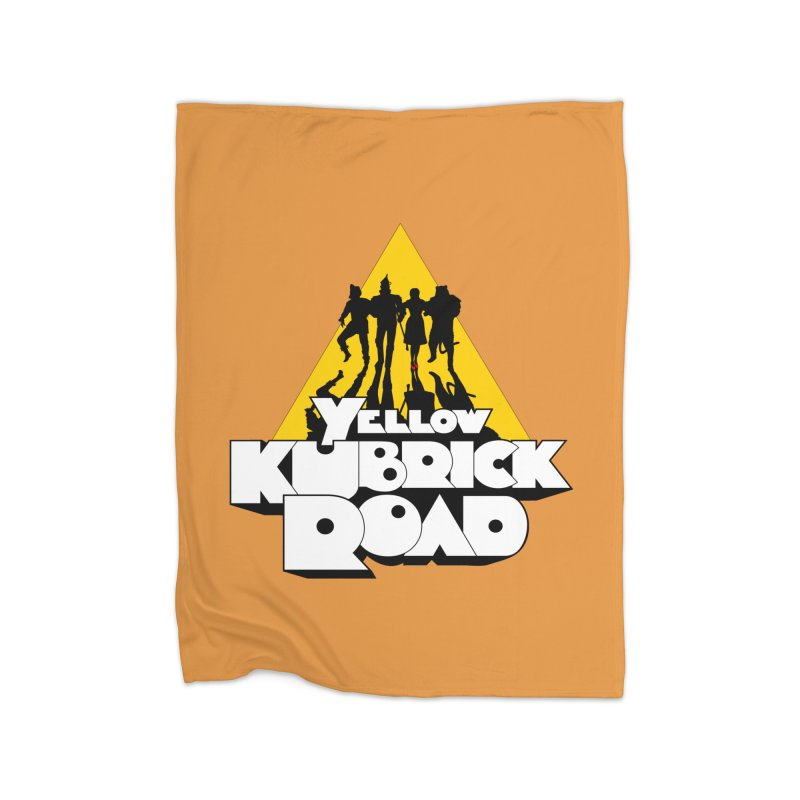 Follow the Yellow Kubrick Road Home Blanket by Tom Burns