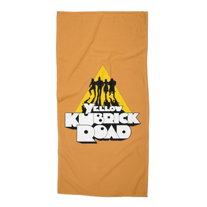 Follow the Yellow Kubrick Road Accessories Beach Towel by Tom Burns