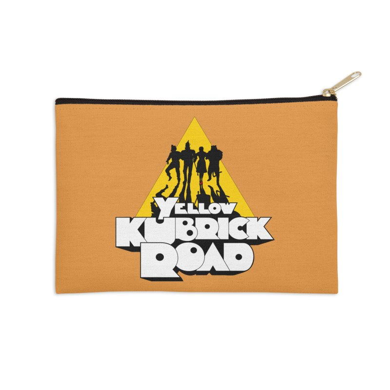 Follow the Yellow Kubrick Road Accessories Zip Pouch by Tom Burns