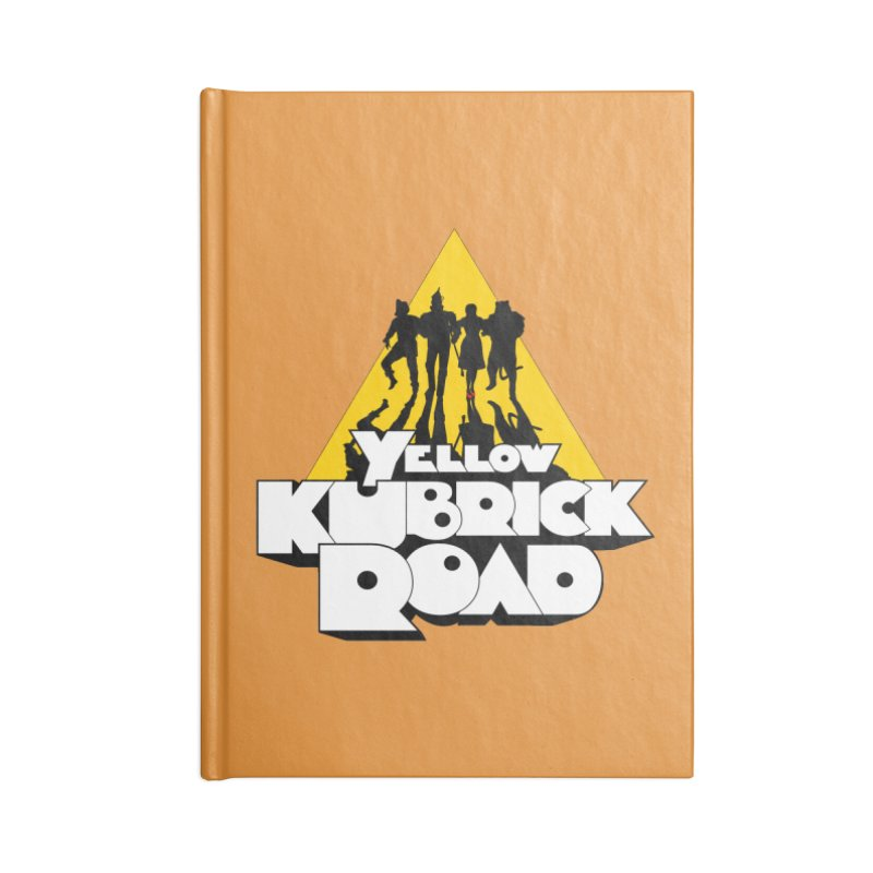 Follow the Yellow Kubrick Road Accessories Notebook by Tom Burns
