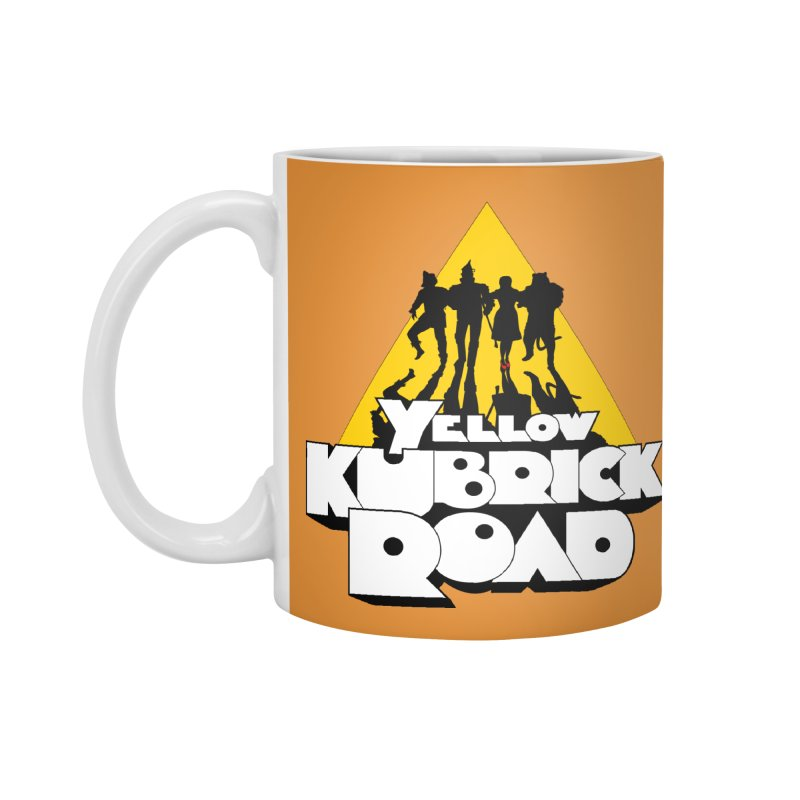 Follow the Yellow Kubrick Road Accessories Mug by Tom Burns