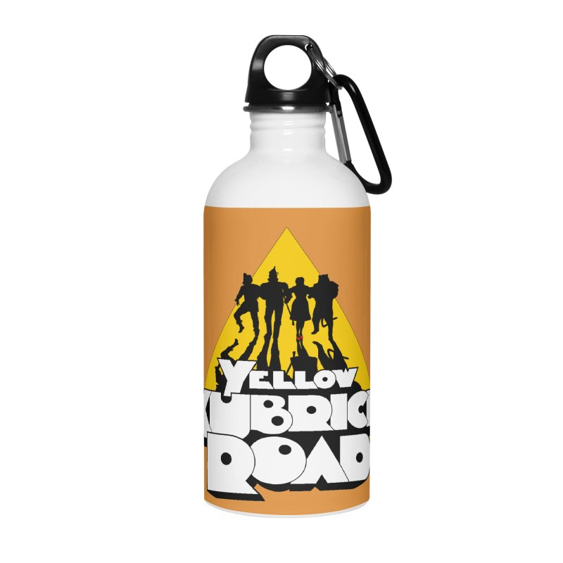 Follow the Yellow Kubrick Road Accessories Water Bottle by Tom Burns
