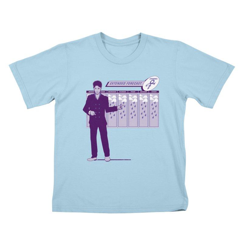 Extended Forecast Kids T-Shirt by Tom Burns