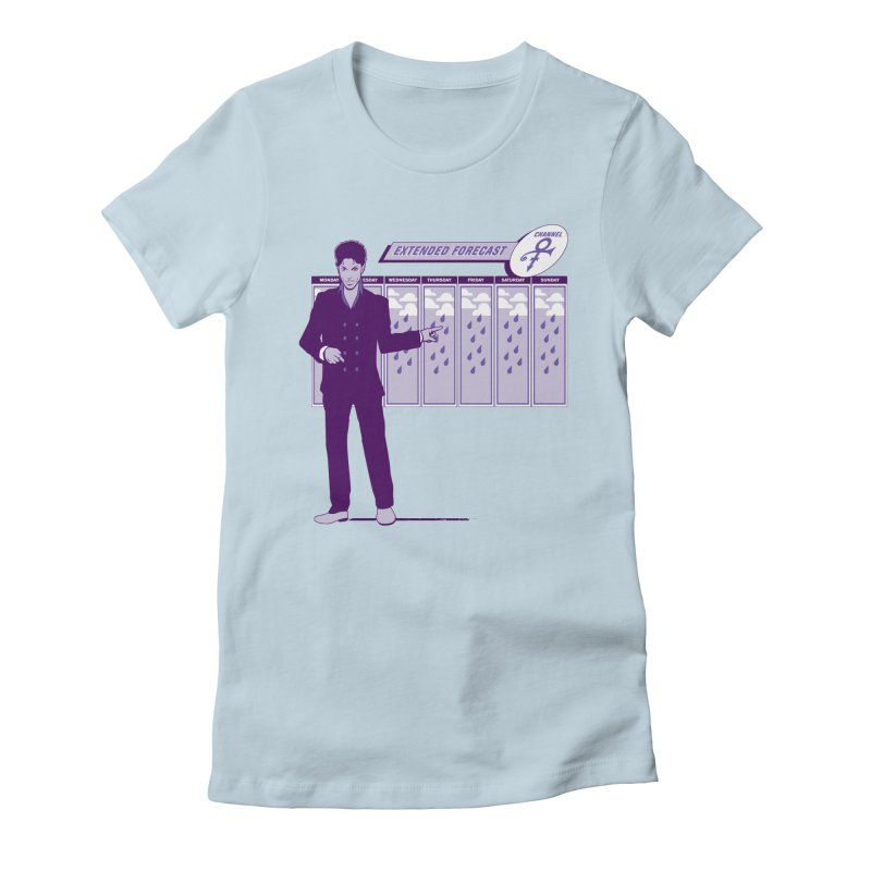 Extended Forecast Women's Fitted T-Shirt by Tom Burns
