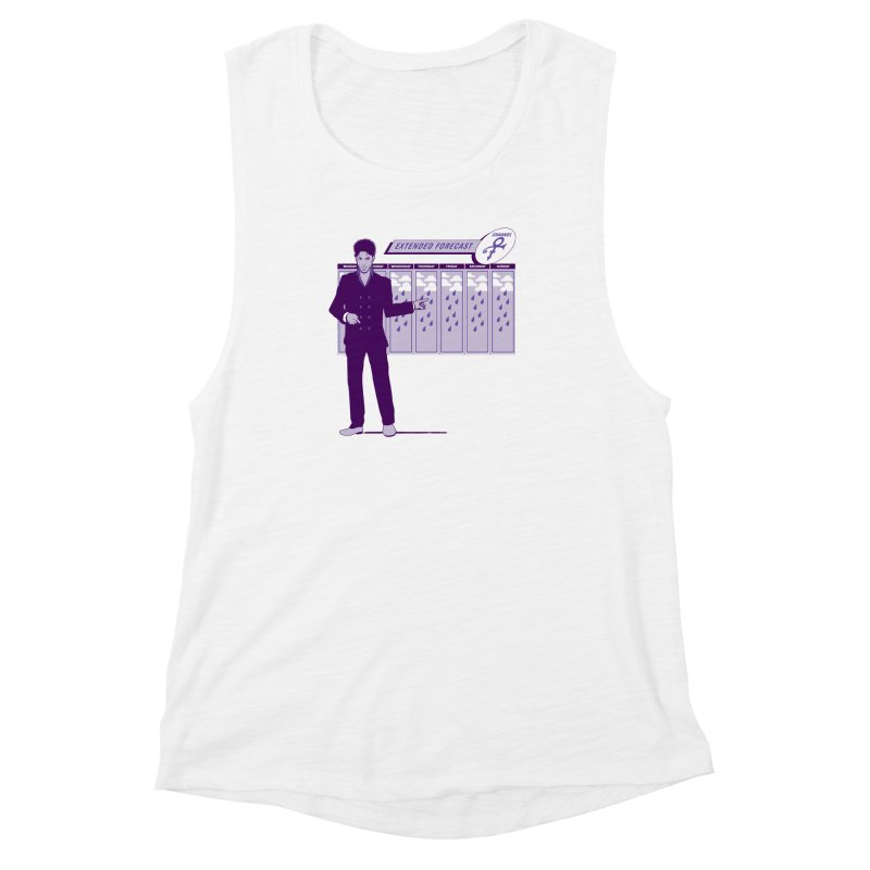 Extended Forecast Women's Muscle Tank by Tom Burns