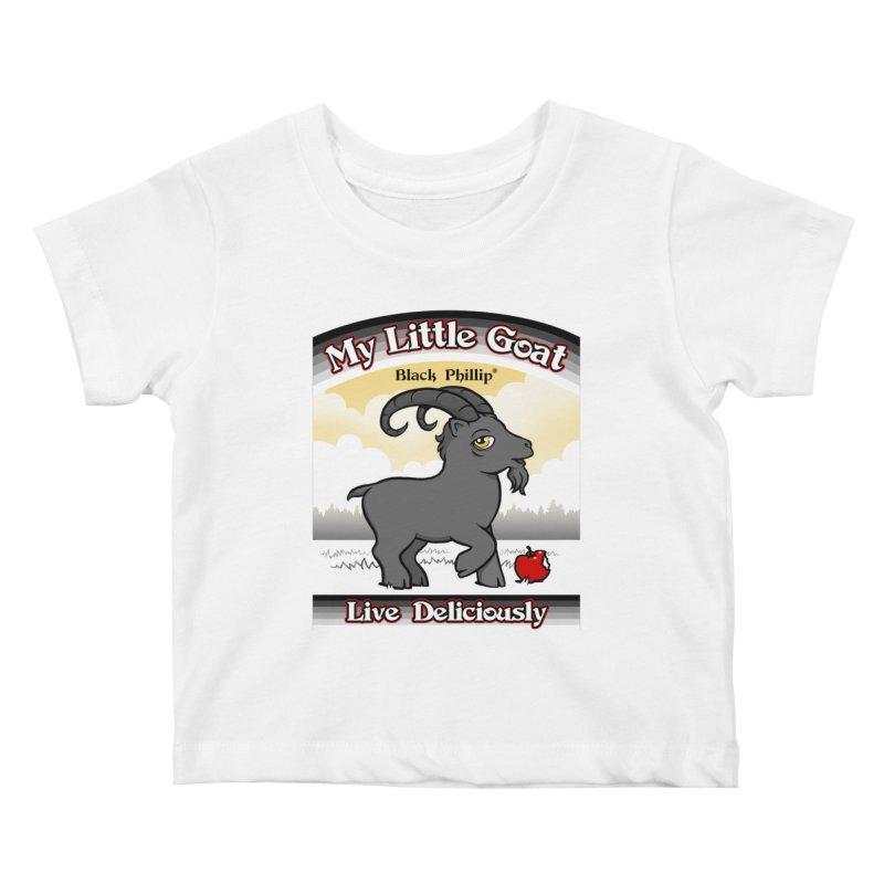 My Little Goat Kids Baby T-Shirt by Tom Burns