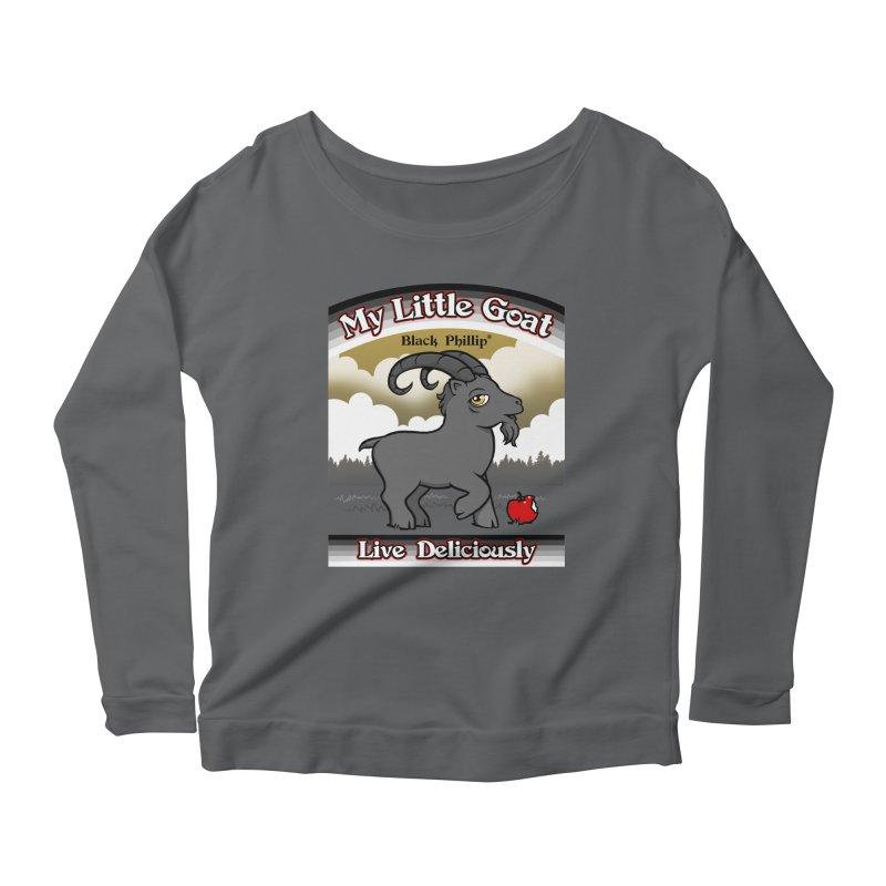 My Little Goat Women's Scoop Neck Longsleeve T-Shirt by Tom Burns