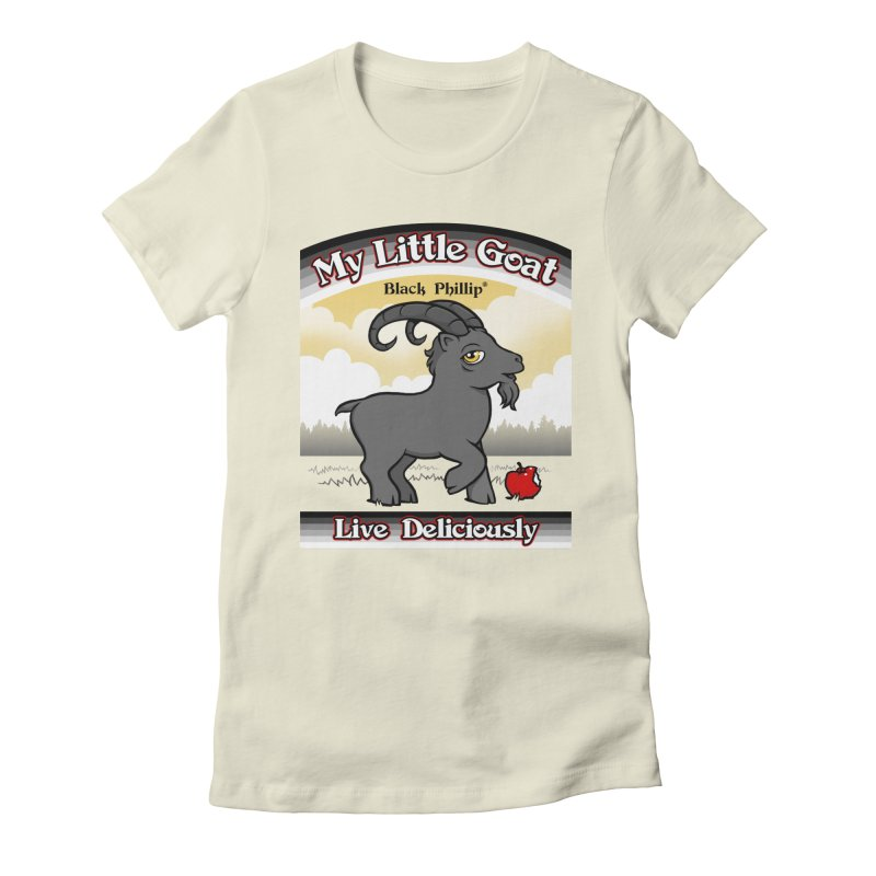 My Little Goat Women's Fitted T-Shirt by Tom Burns
