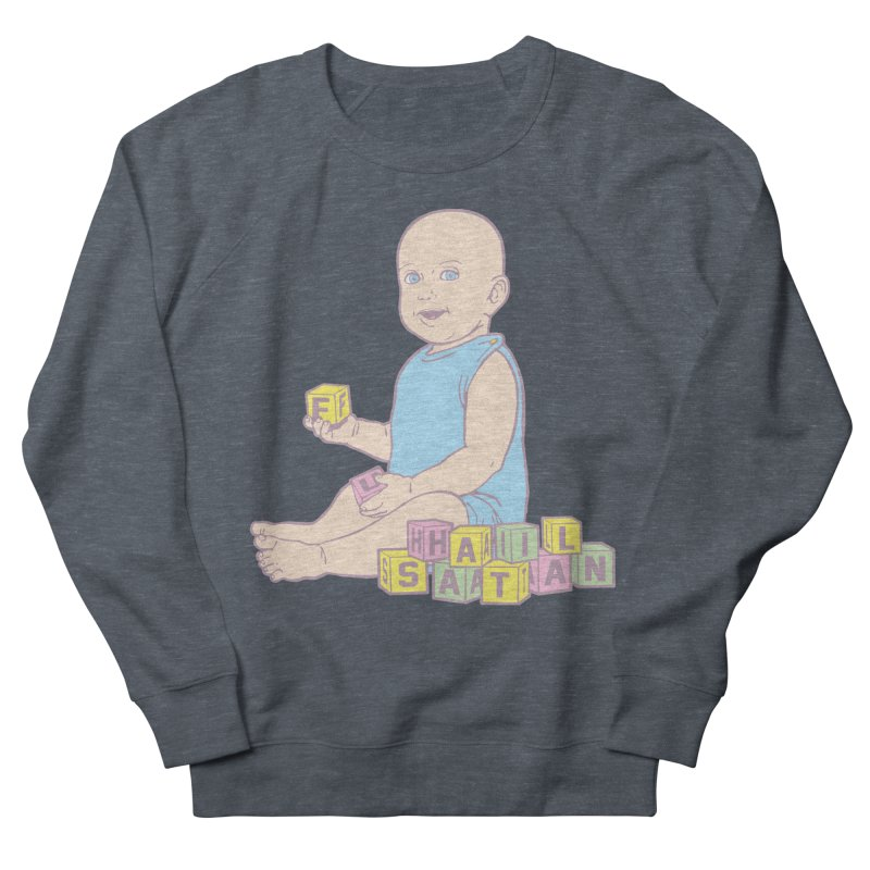 Adorable Antichrist Men's French Terry Sweatshirt by Tom Burns