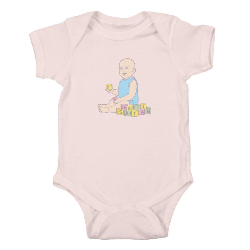 Adorable Antichrist Kids Baby Bodysuit by Tom Burns