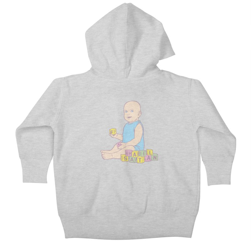 Adorable Antichrist Kids Baby Zip-Up Hoody by Tom Burns