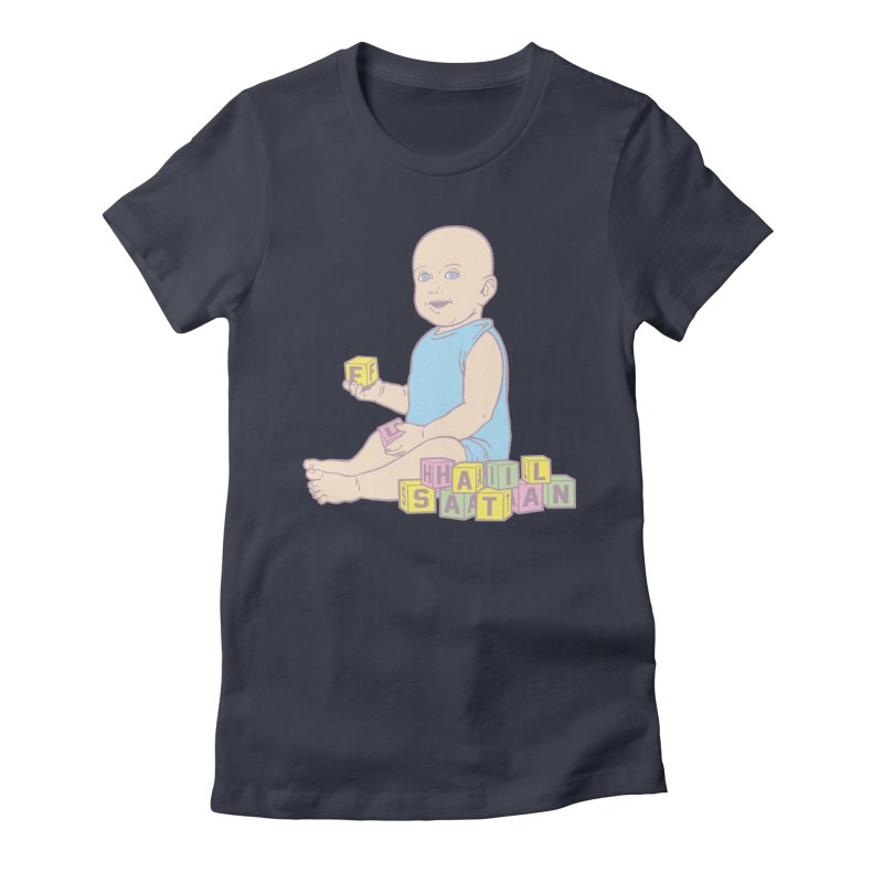 Adorable Antichrist Women's Fitted T-Shirt by Tom Burns