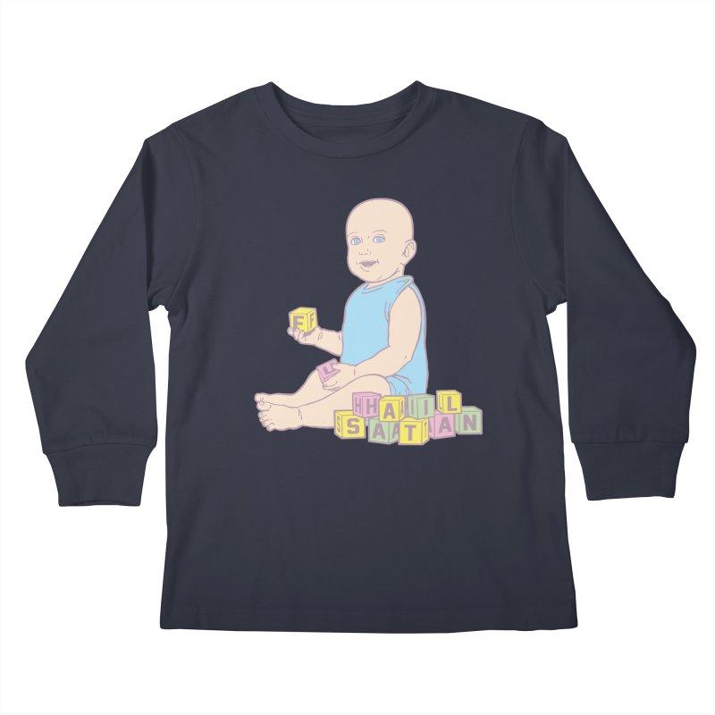 Adorable Antichrist Kids Longsleeve T-Shirt by Tom Burns