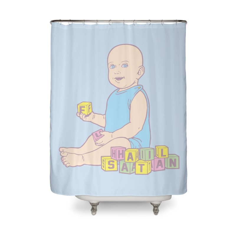 Adorable Antichrist Home Shower Curtain by Tom Burns